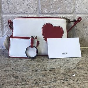 New Coach wristlet perfect for Valentine's Day